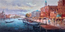 Venetian Gondolas by Henderson Cisz -  sized 48x24 inches. Available from Whitewall Galleries